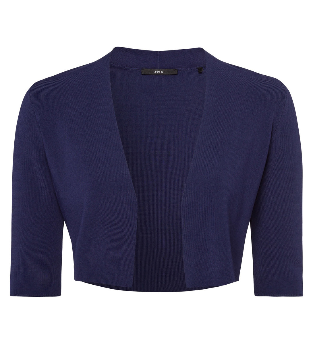 Bolero in offener Form in blue