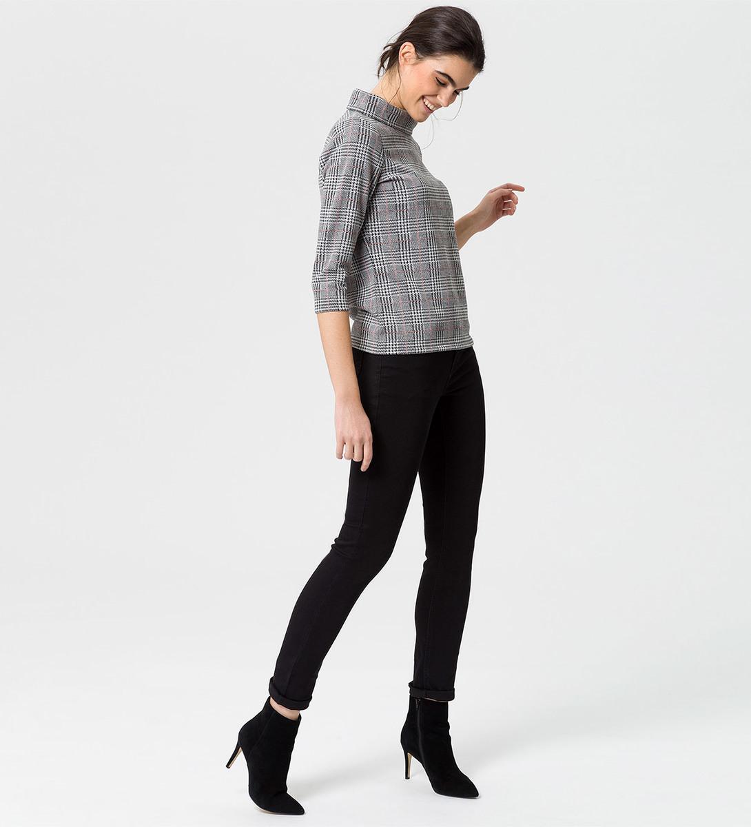 Shirt im Karo-Look in black