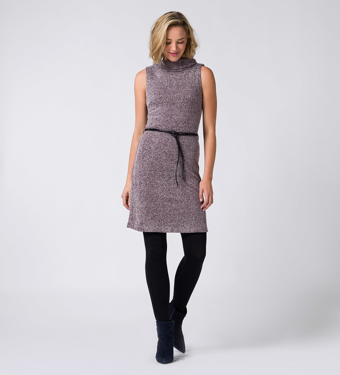 Kleid im melierten Look in plum-m