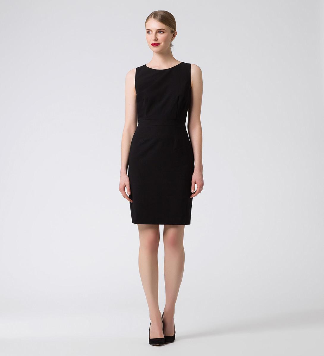 Kleid im klassischen Design in black