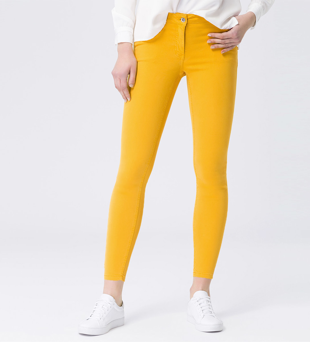 Jeans im 5-Pocket-Style 28 Inch in safran yellow