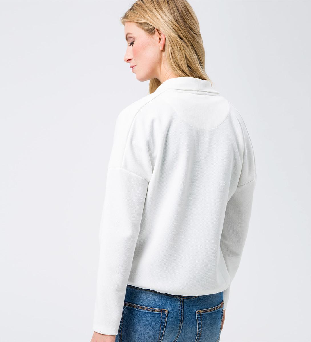 Strickjacke mit Bindedetail in soft white