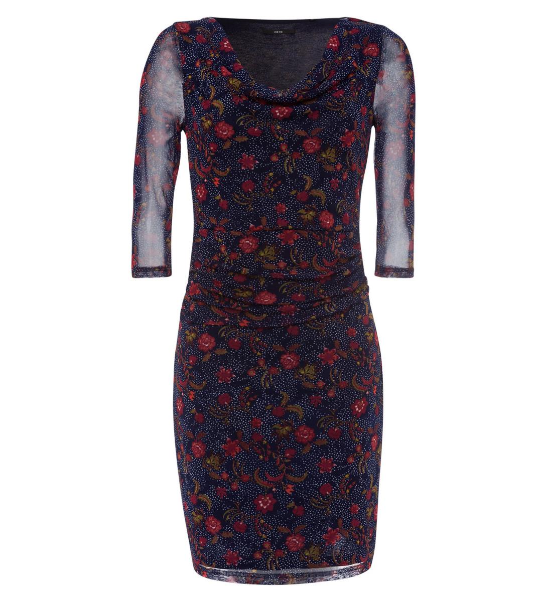 Kleid mit Blumenprint in blue black