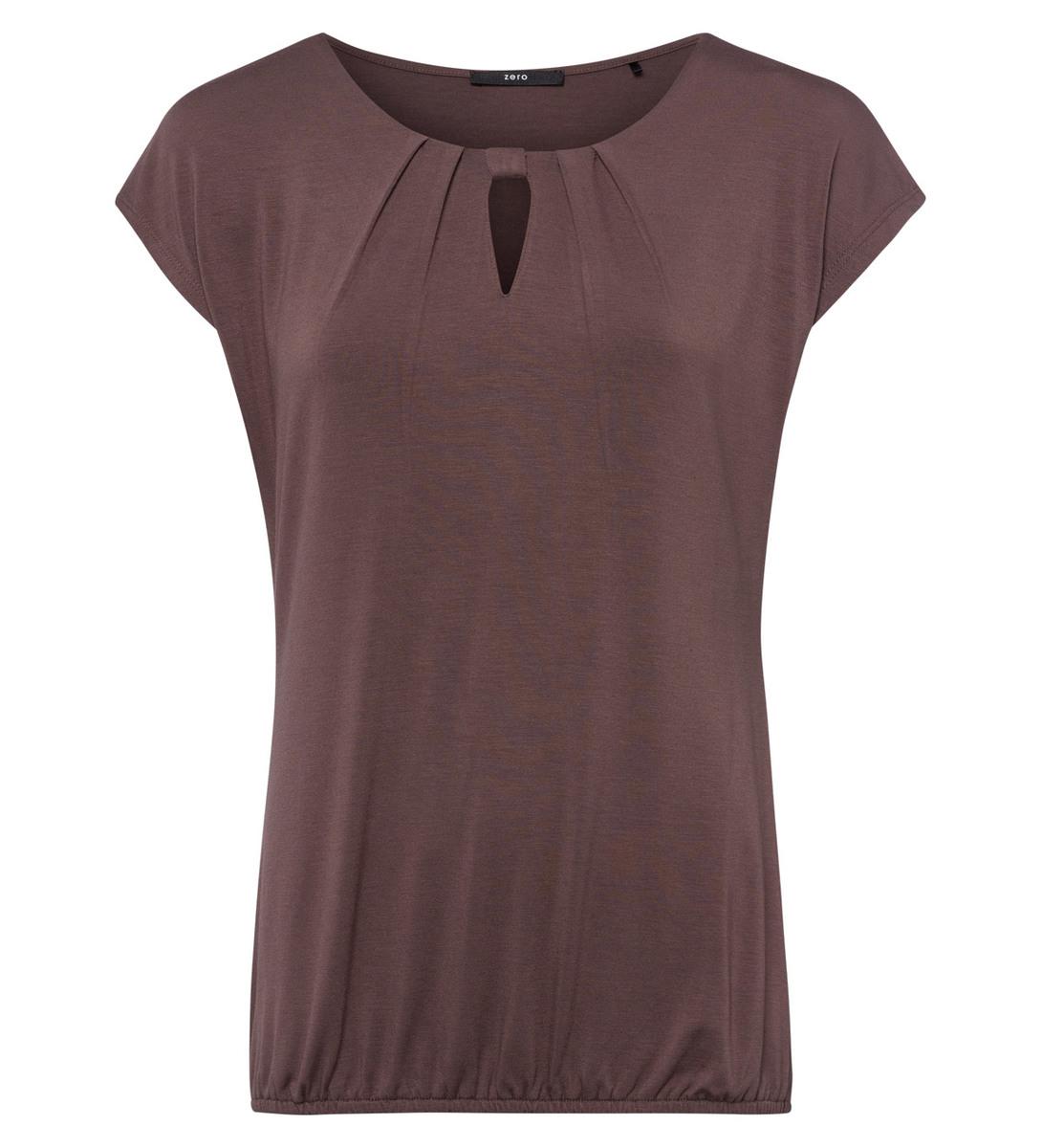 Shirt mit Keyhole-Design in brown