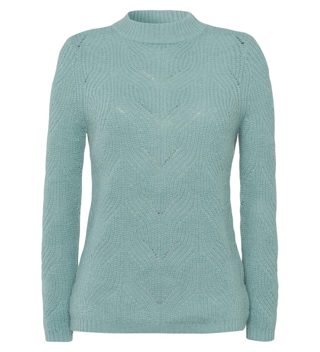 Pullover mit Strickmuster in light jade
