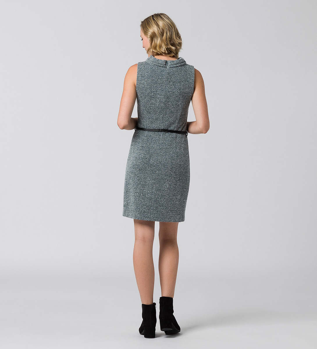 Kleid im melierten Look in deep green-m