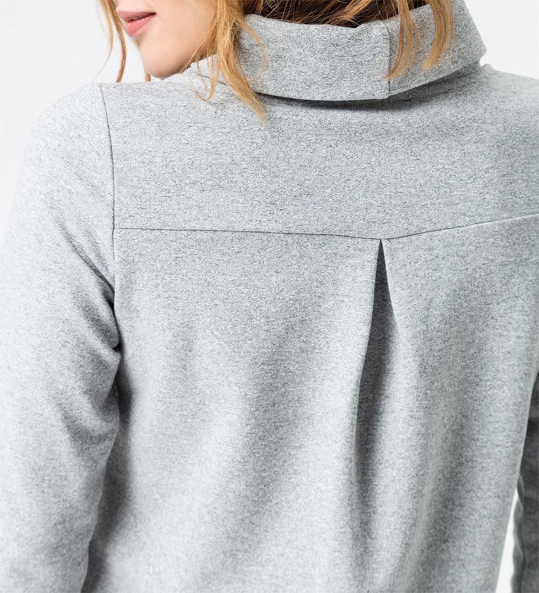 Sweatshirt mit Turtleneck in stone grey