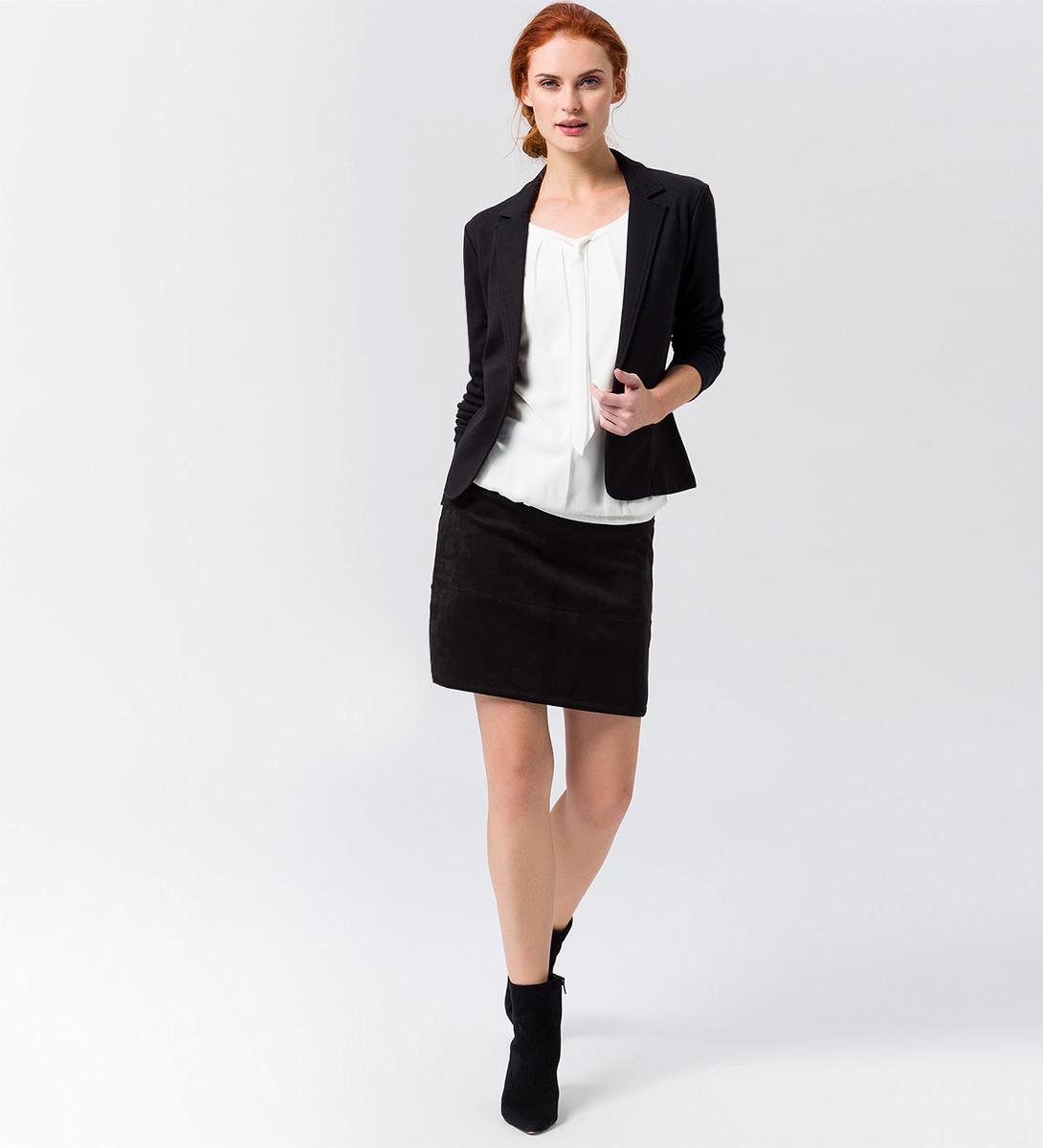 Jersey-Blazer in black