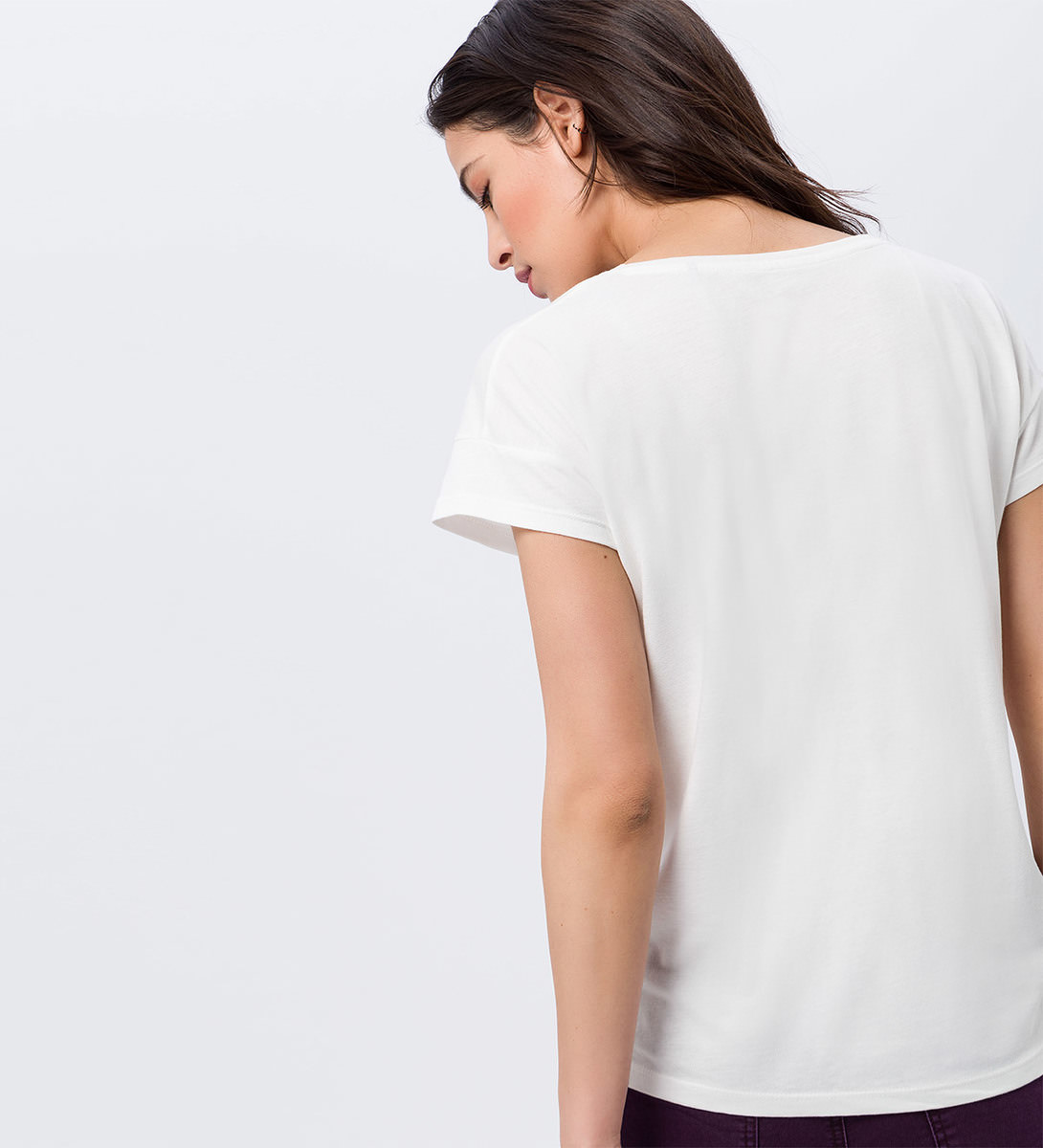 T-Shirt mit Frontprint in offwhite