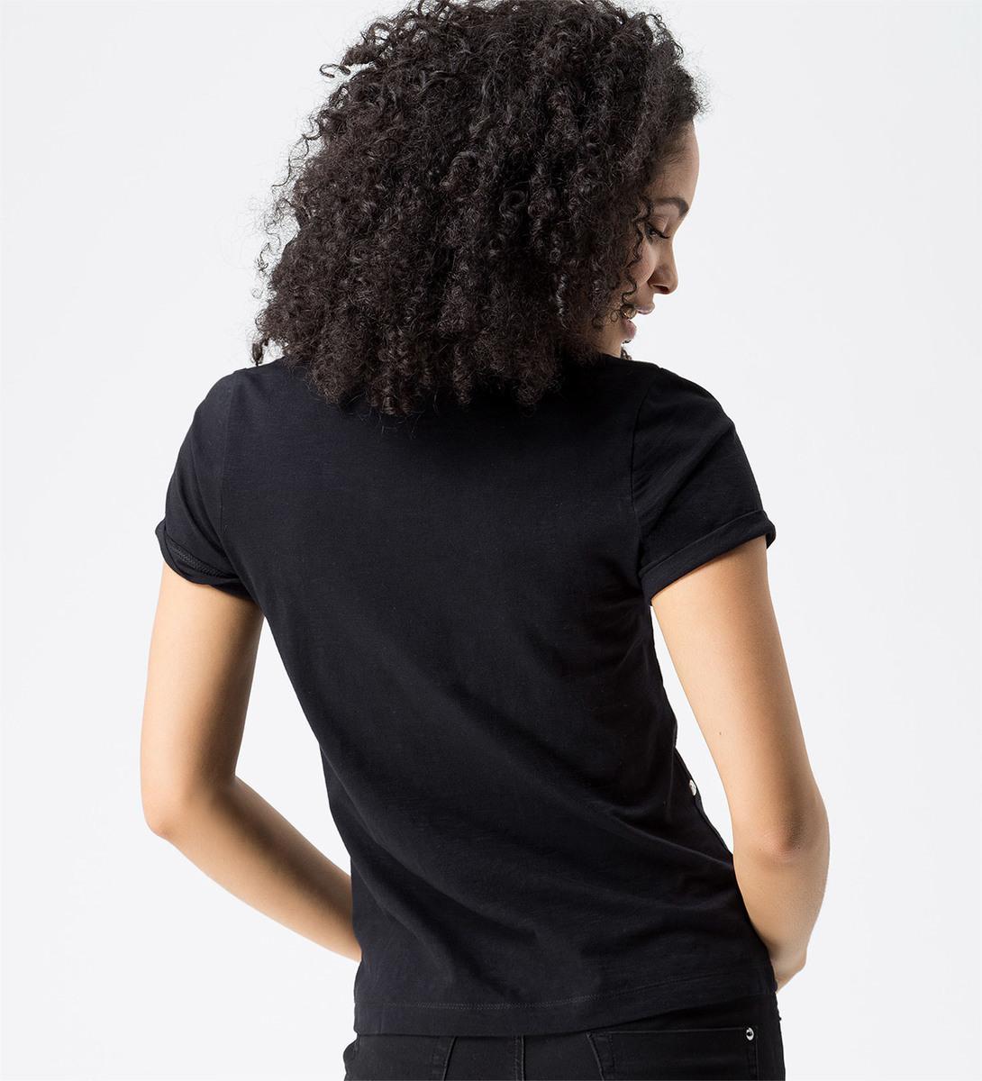 T-Shirt mit Frontprint in black