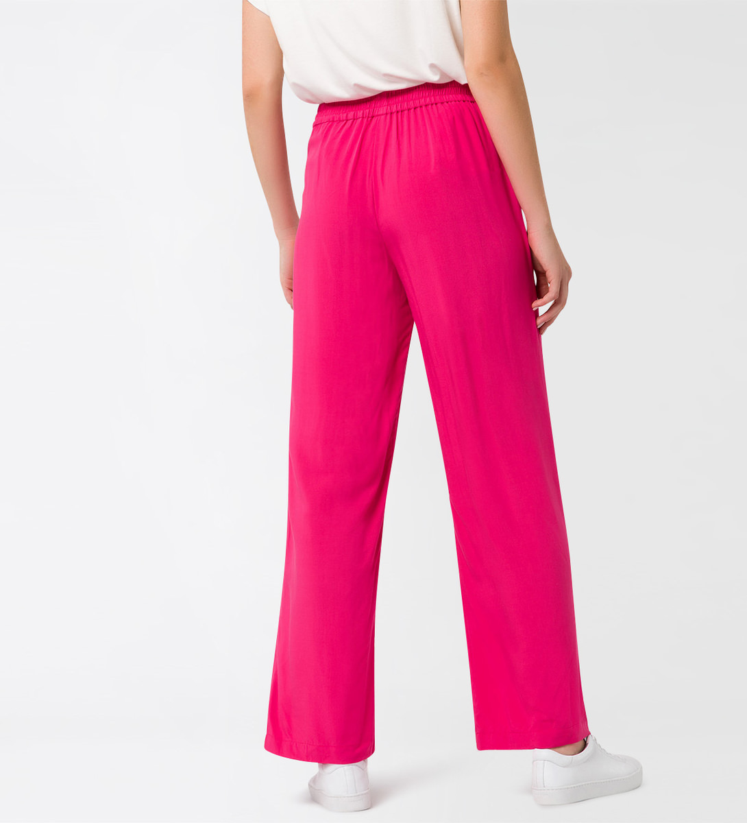 Hose mit weitem Schnitt in bright pink