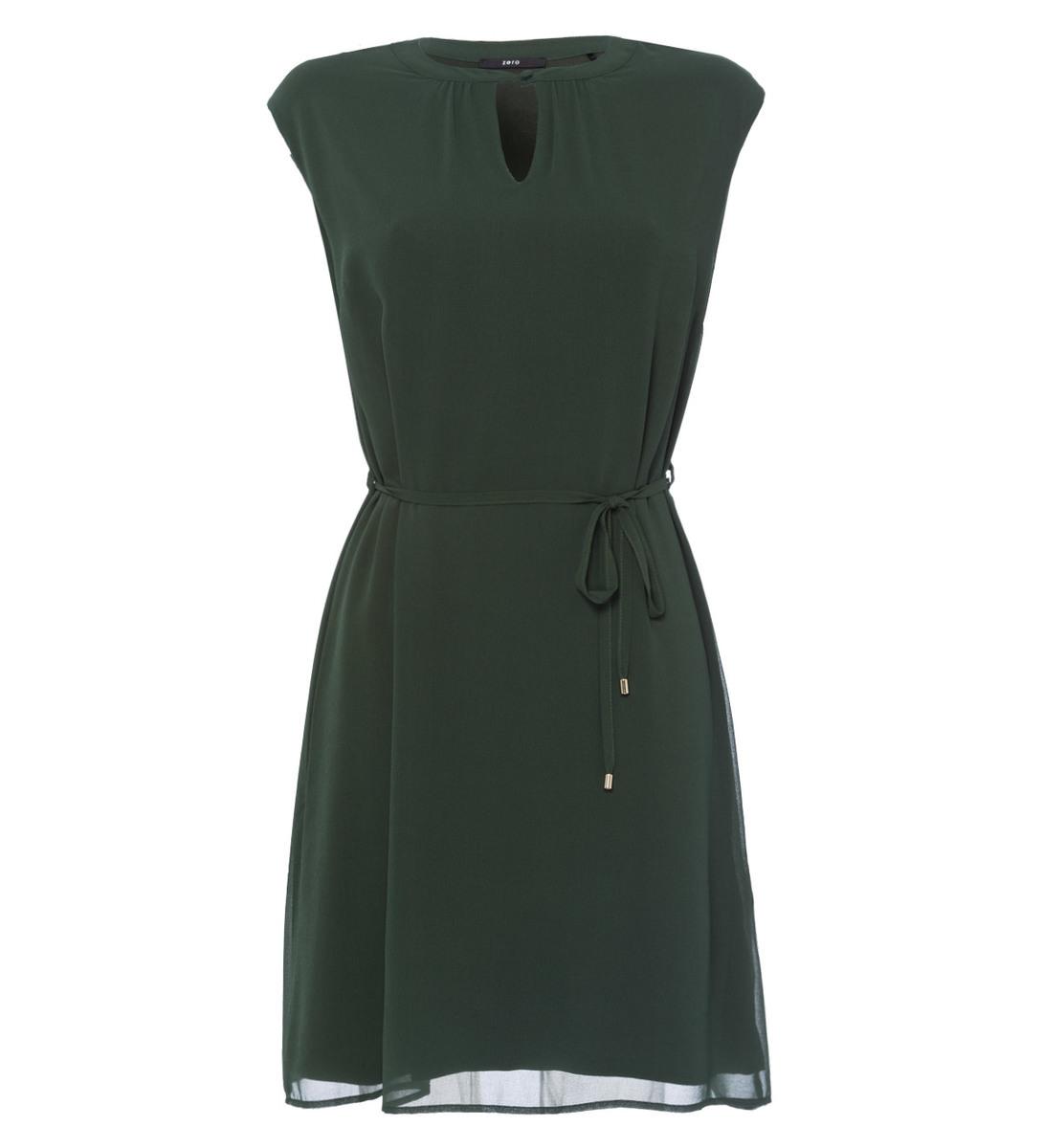 Kleid mit Bindeband in cypress olive