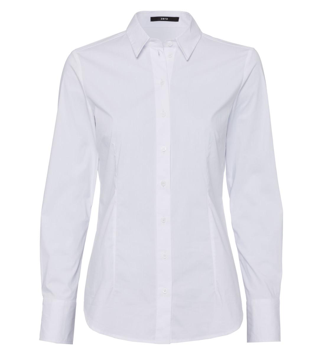 Bluse mit geradem Schnitt in white