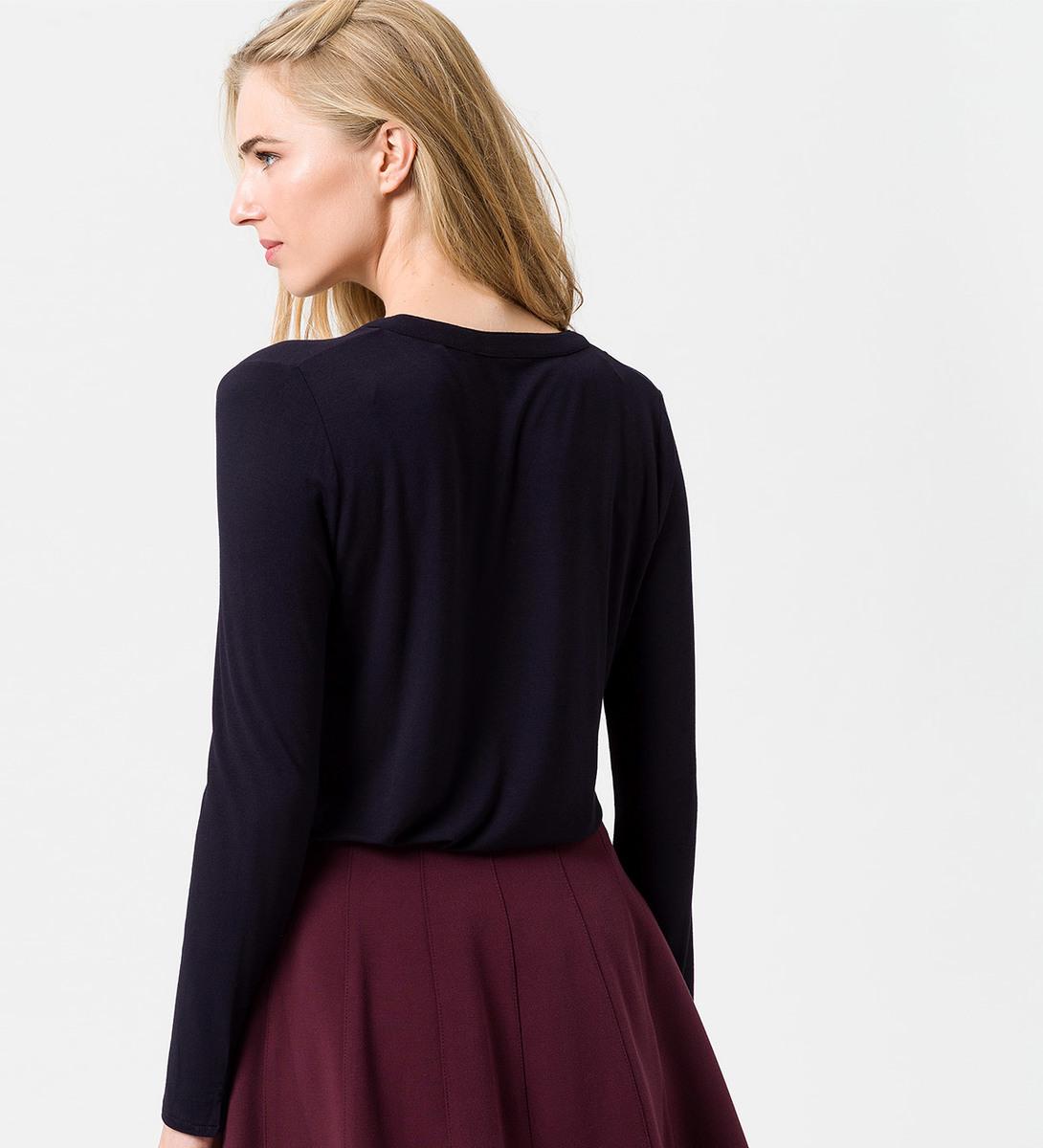 T-Shirt mit langen Ärmeln in blue black