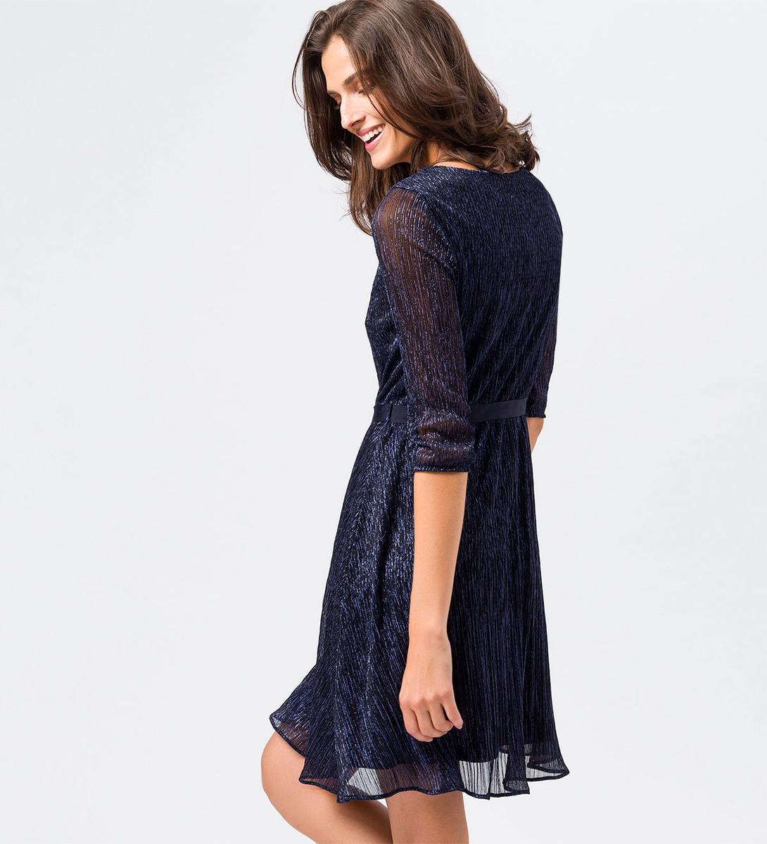 Kleid mit 3/4-Ärmeln in blue black