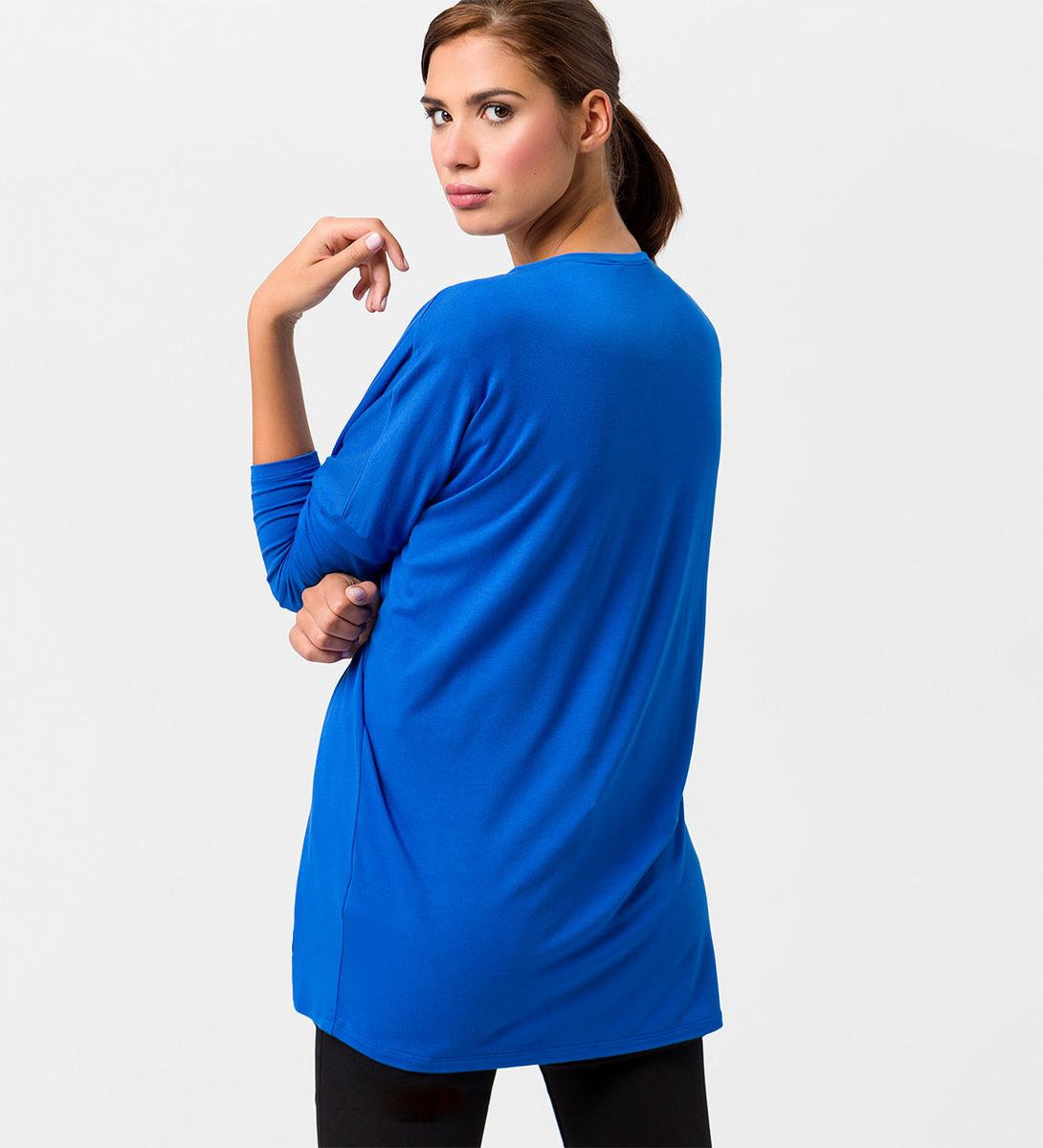 Jersey Cardigan in Oversize-Passform in cobalt blue