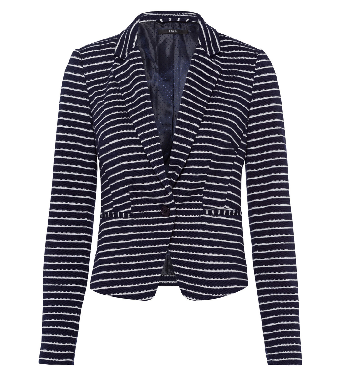 Blazer mit Reverskragen in blue black