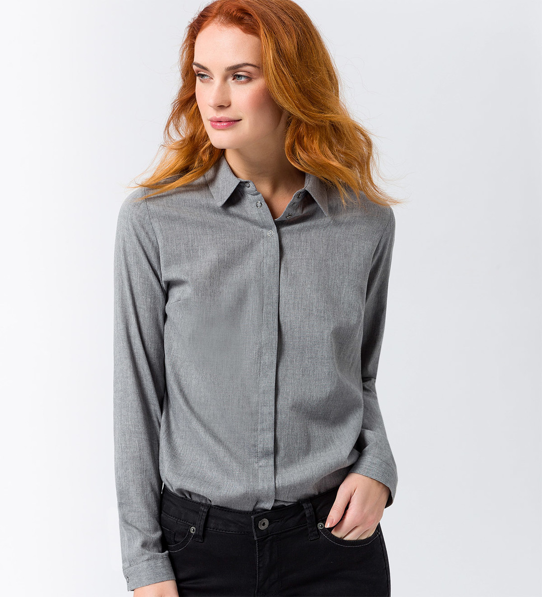 Bluse aus Viskose in anthracite