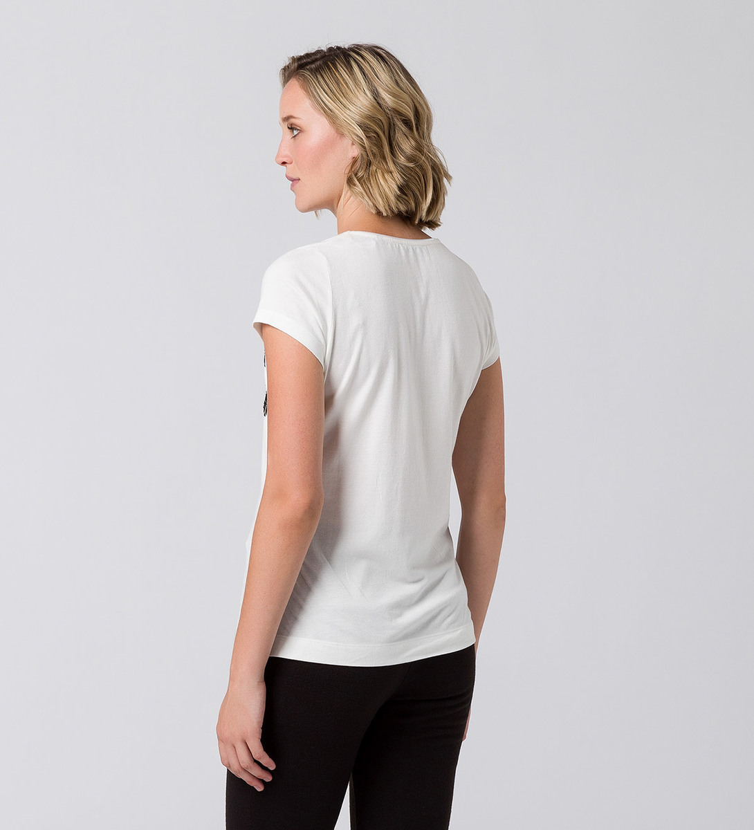 T-Shirt mit Statementprint in offwhite