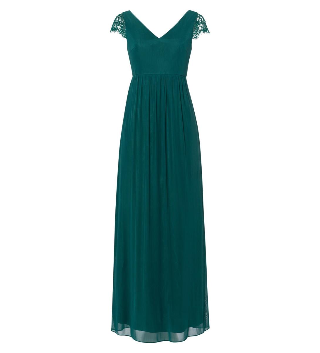 Abendkleid mit Spitze in jungle green