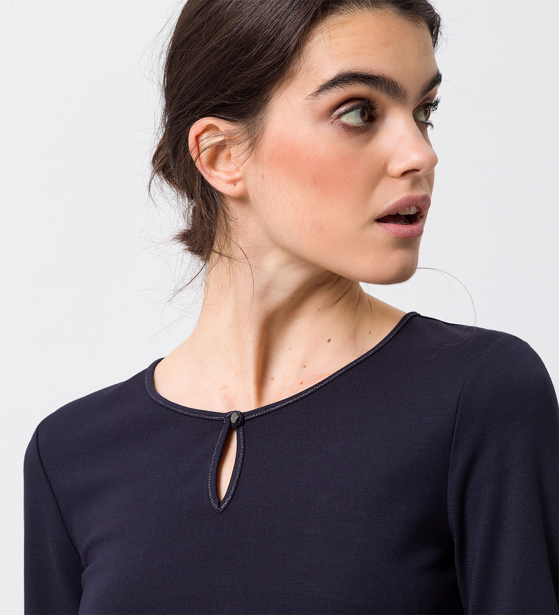 Shirt mit Keyhole-Detail in blue black