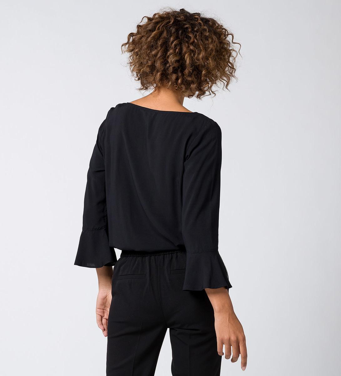 Bluse mit 3/4-Ärmeln in black