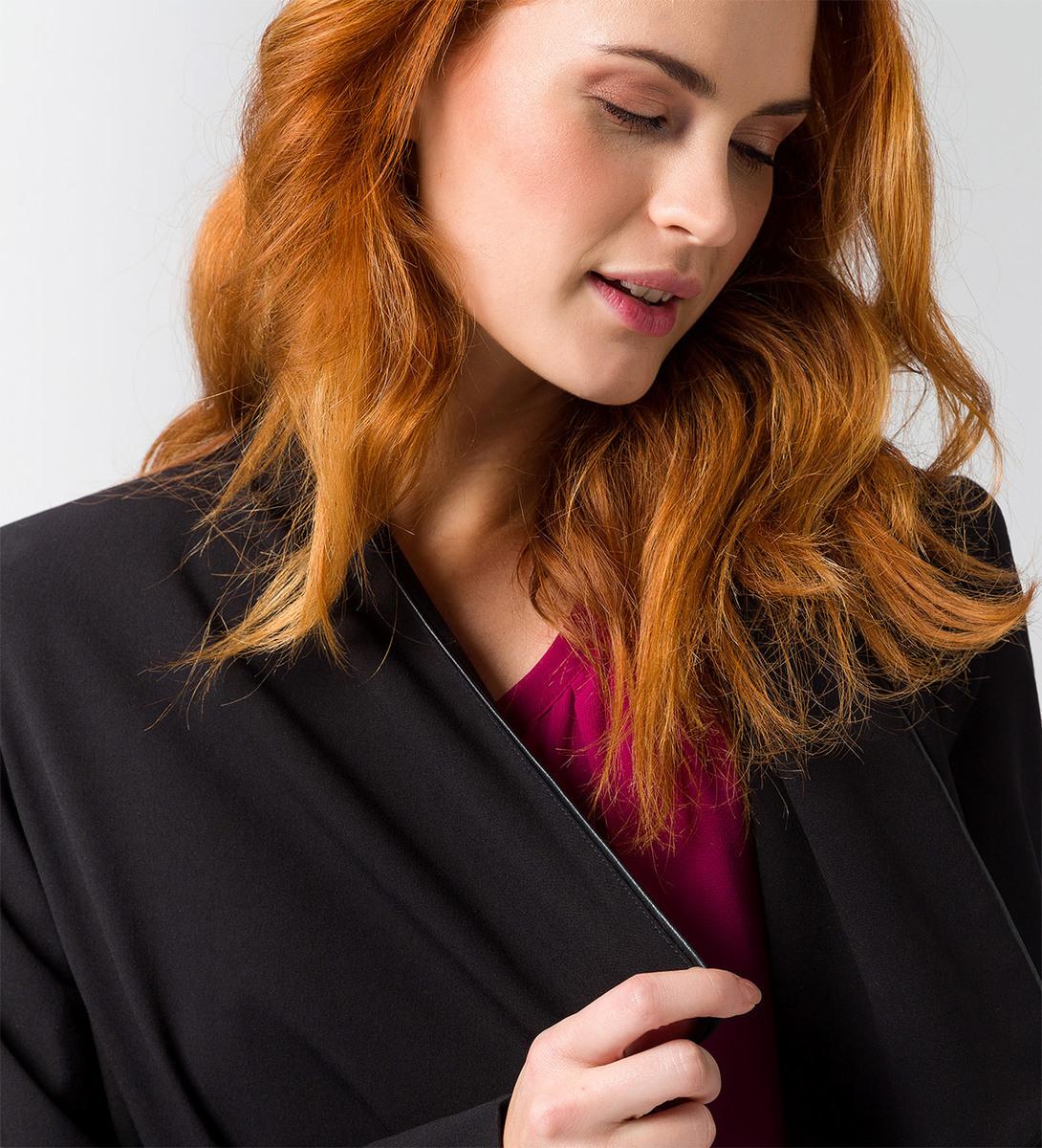 Blazer mit Schalkragen in black