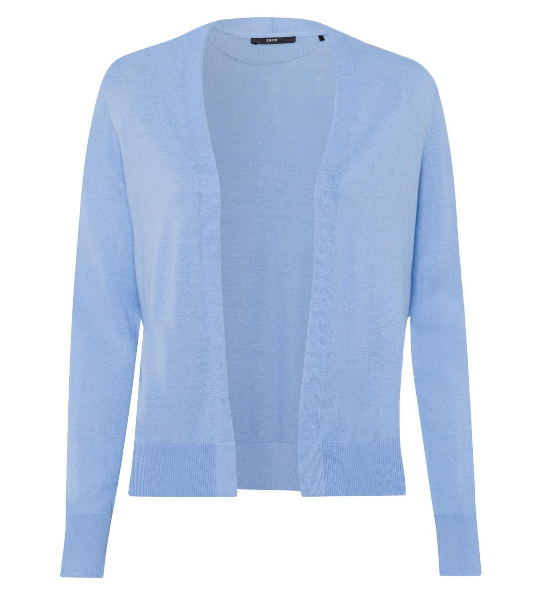 Cardigan in knopflosem Design in blue wave