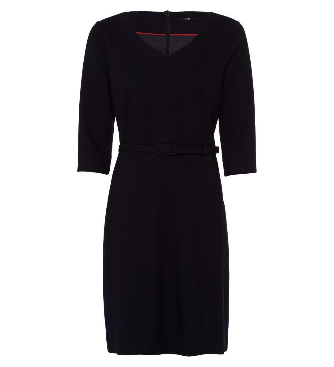 Kleid mit Gürtel in blue black