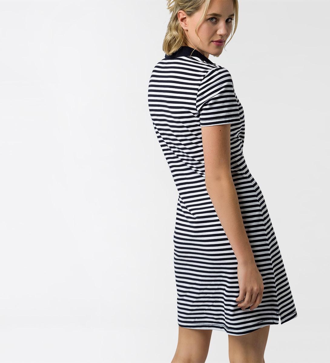 Kleid mit Polokragen in blue black