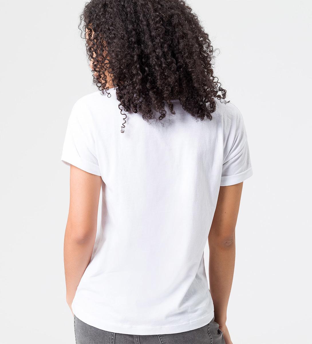 T-Shirt mit gummiertem Frontprint in rose parfait