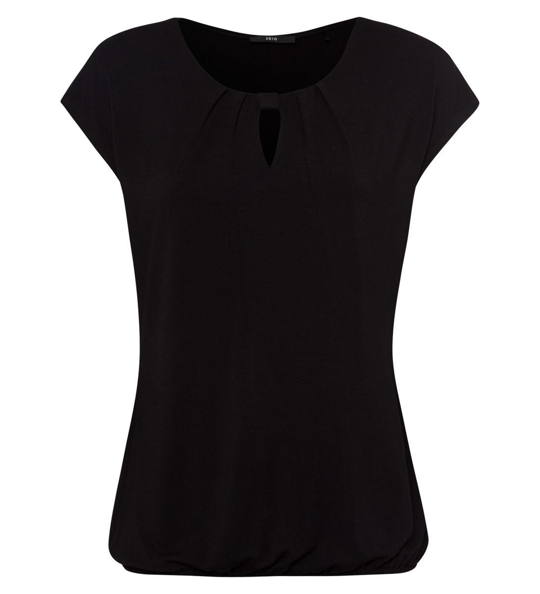 Shirt mit Keyhole-Design in black