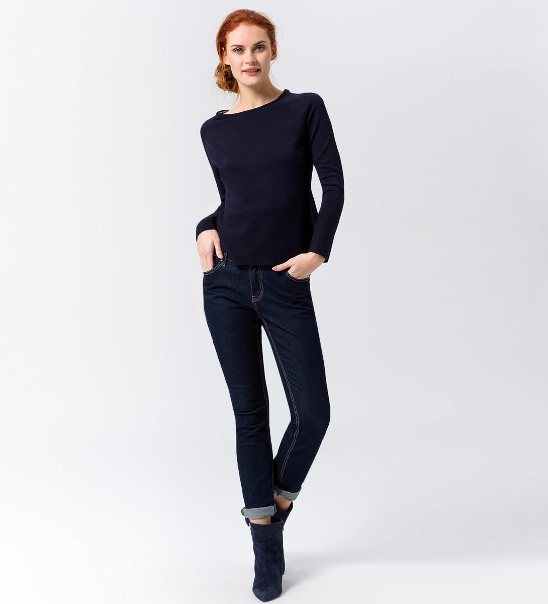 Pullover in Feinstrickqualität in blue black