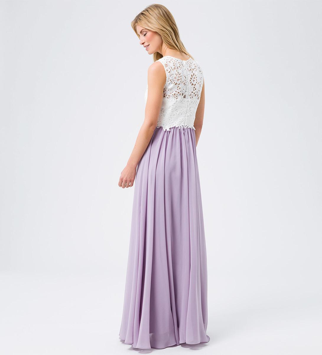 Maxikleid mit Spitze in lavender