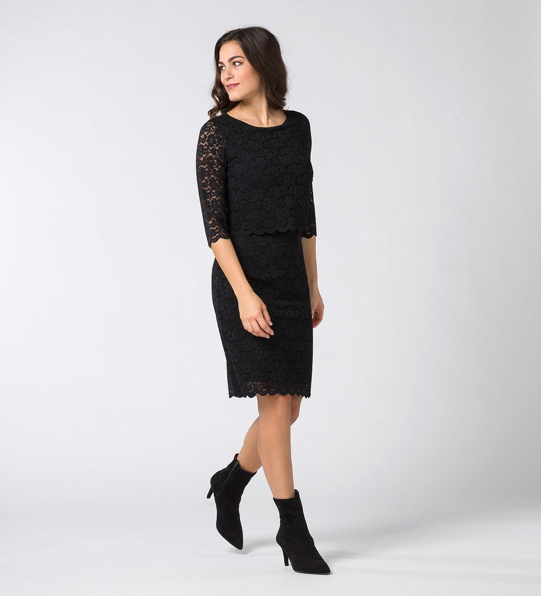 Kleid aus Spitze black