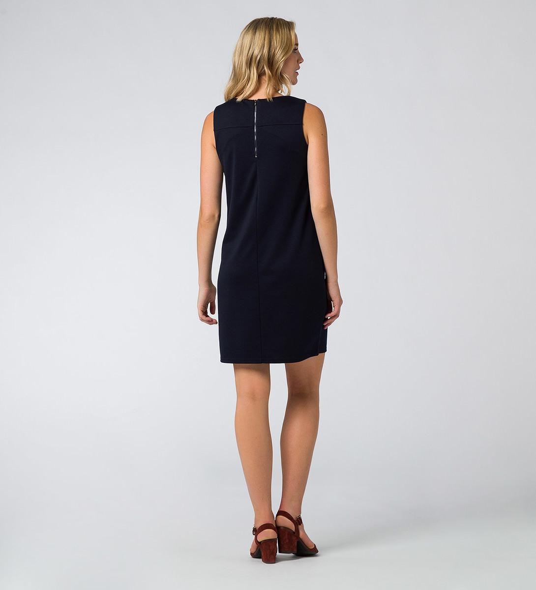 Kleid mit Rundhalsausschnitt in blue black