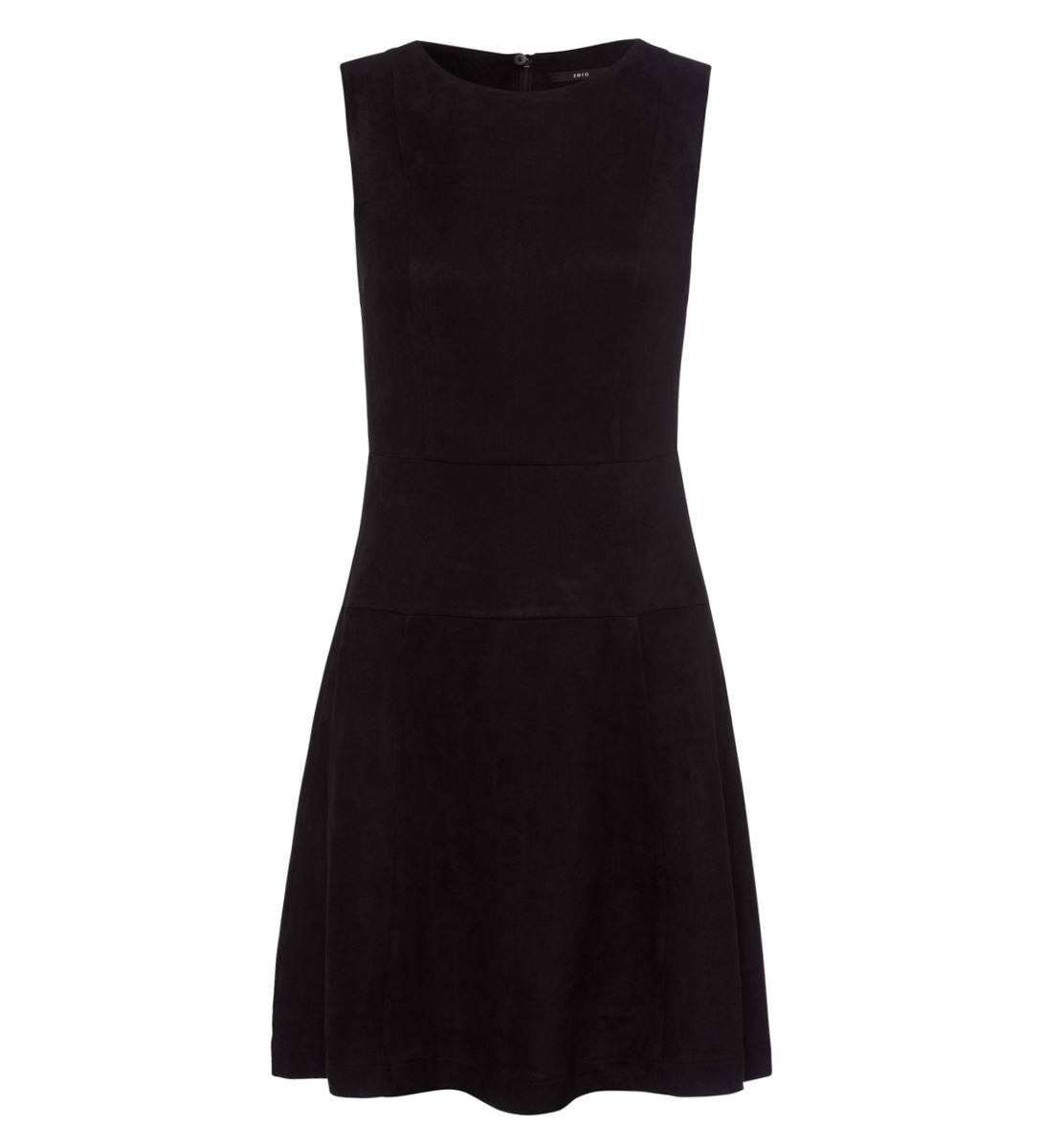 Kleid im Velours-Look in black