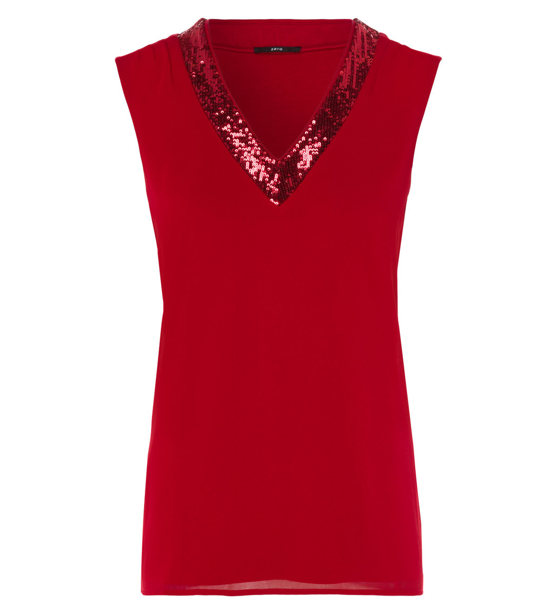 Top im Layering-Look in red flower