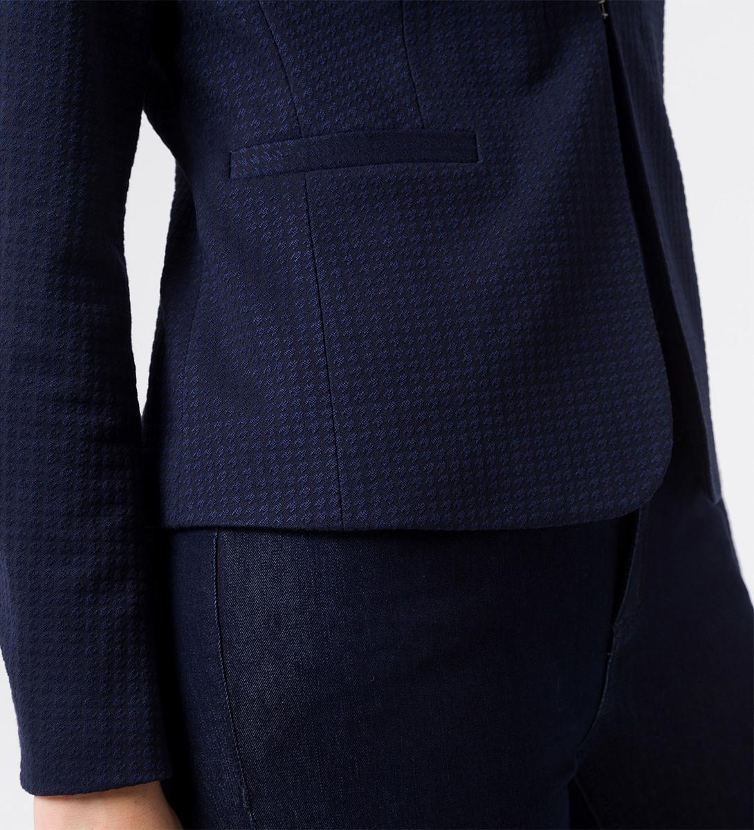 Blazer mit Strukturmuster in blue black