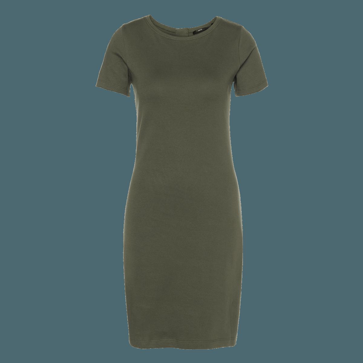 Kleid aus festem Jersey in deep khaki