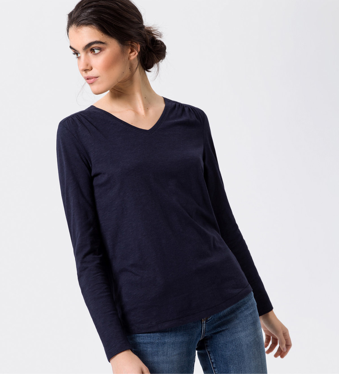 Shirt im Basic-Look in blue black