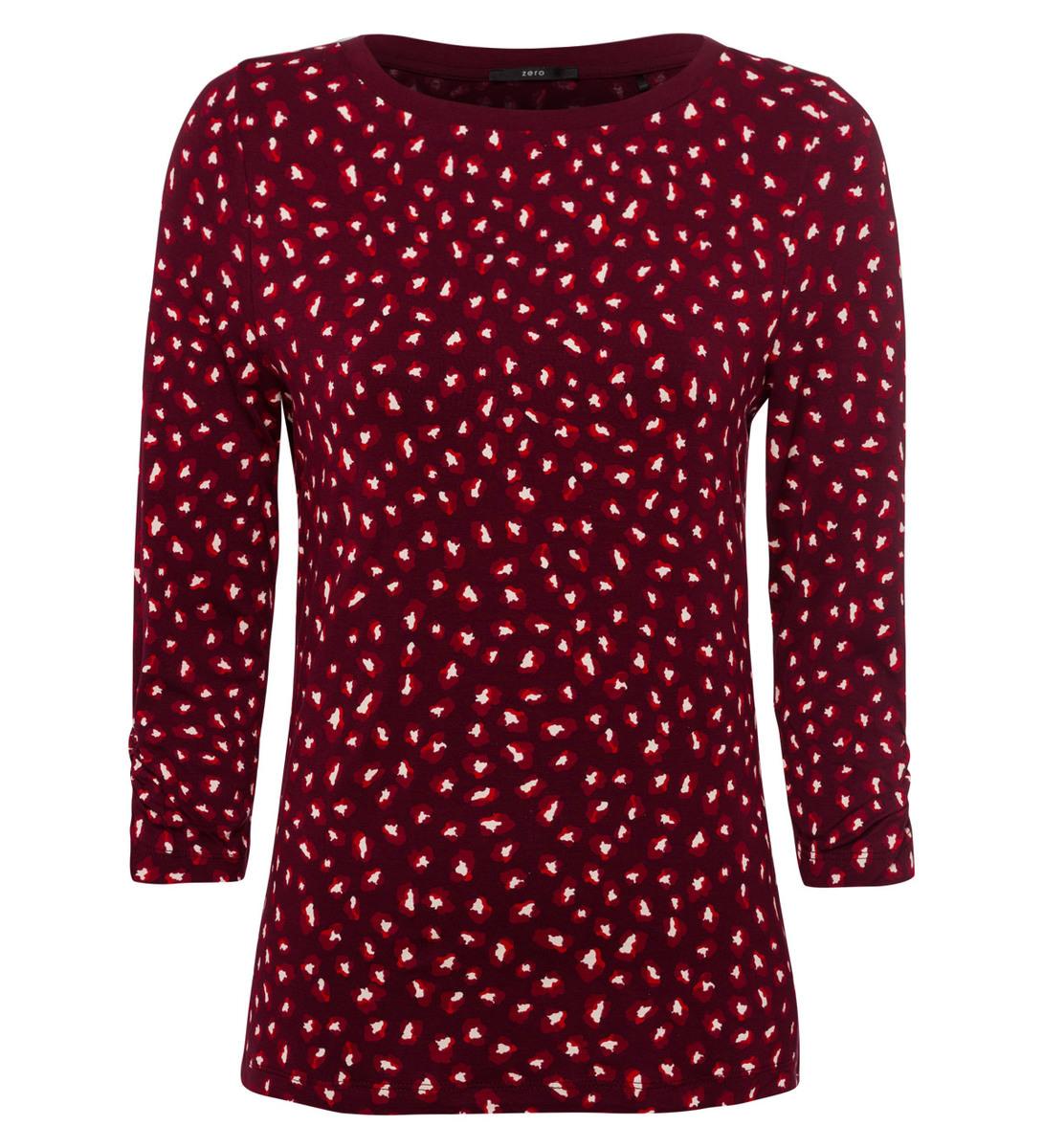 Shirt mit Alloverprint in grape red