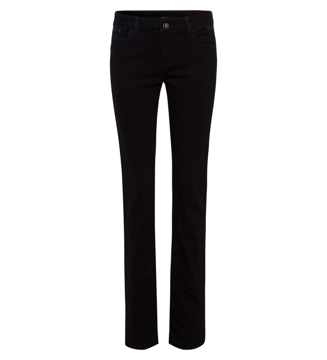 Jeans mit Glitzersteinen 32 Inch in black
