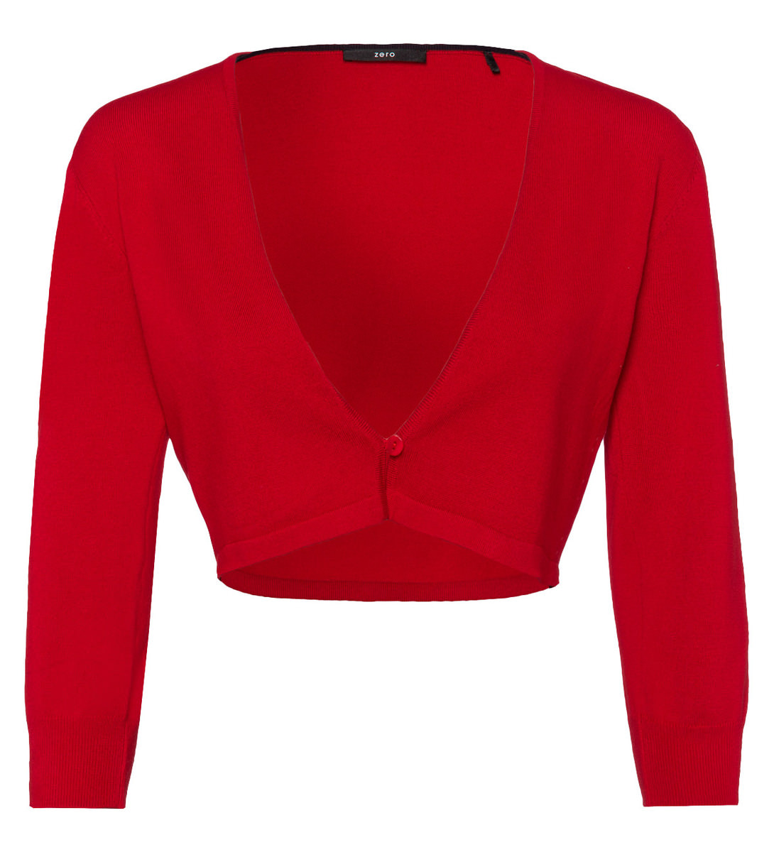 Bolero mit 3/4 Arm in flame red