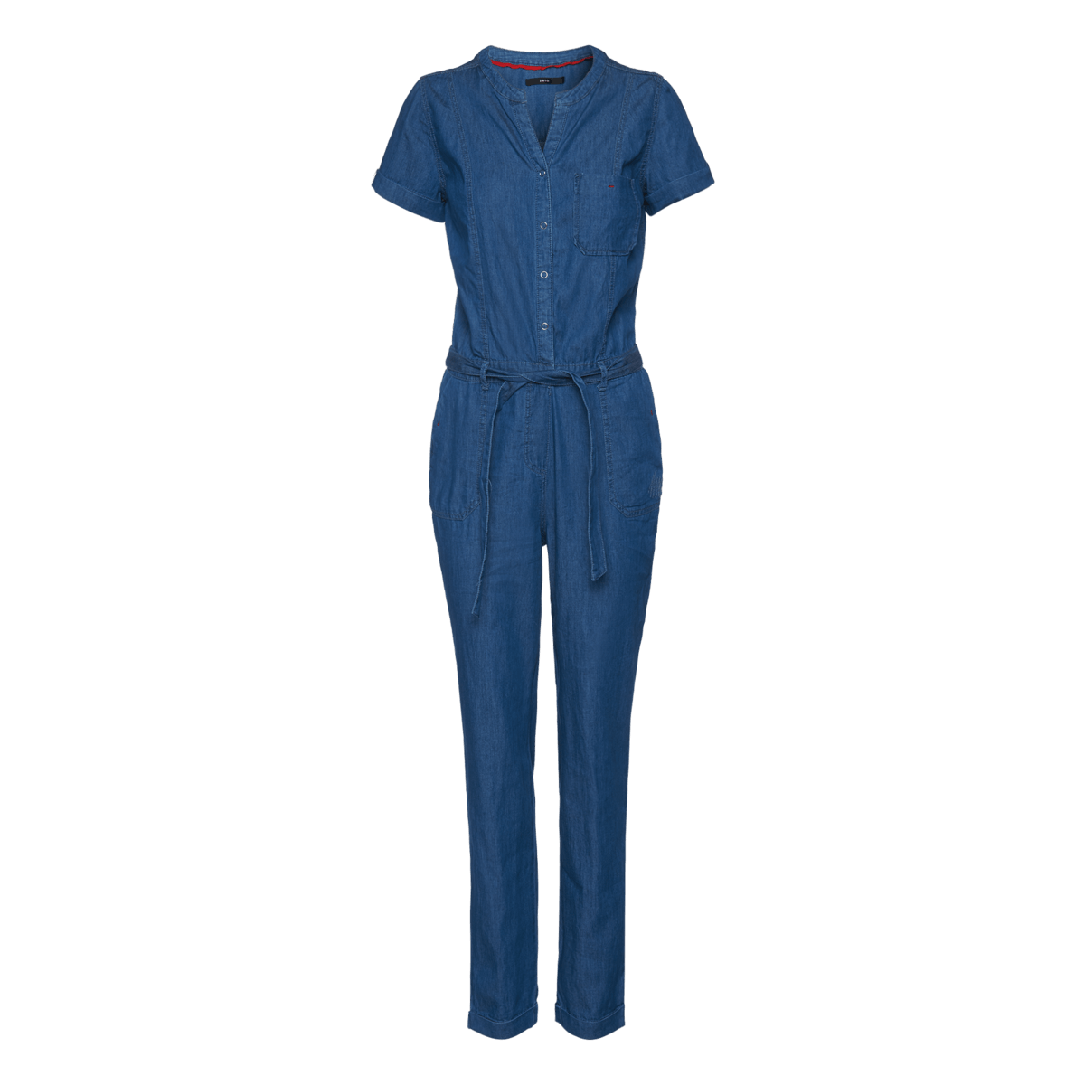 Overall in Denim-Optik mid blue clean washed