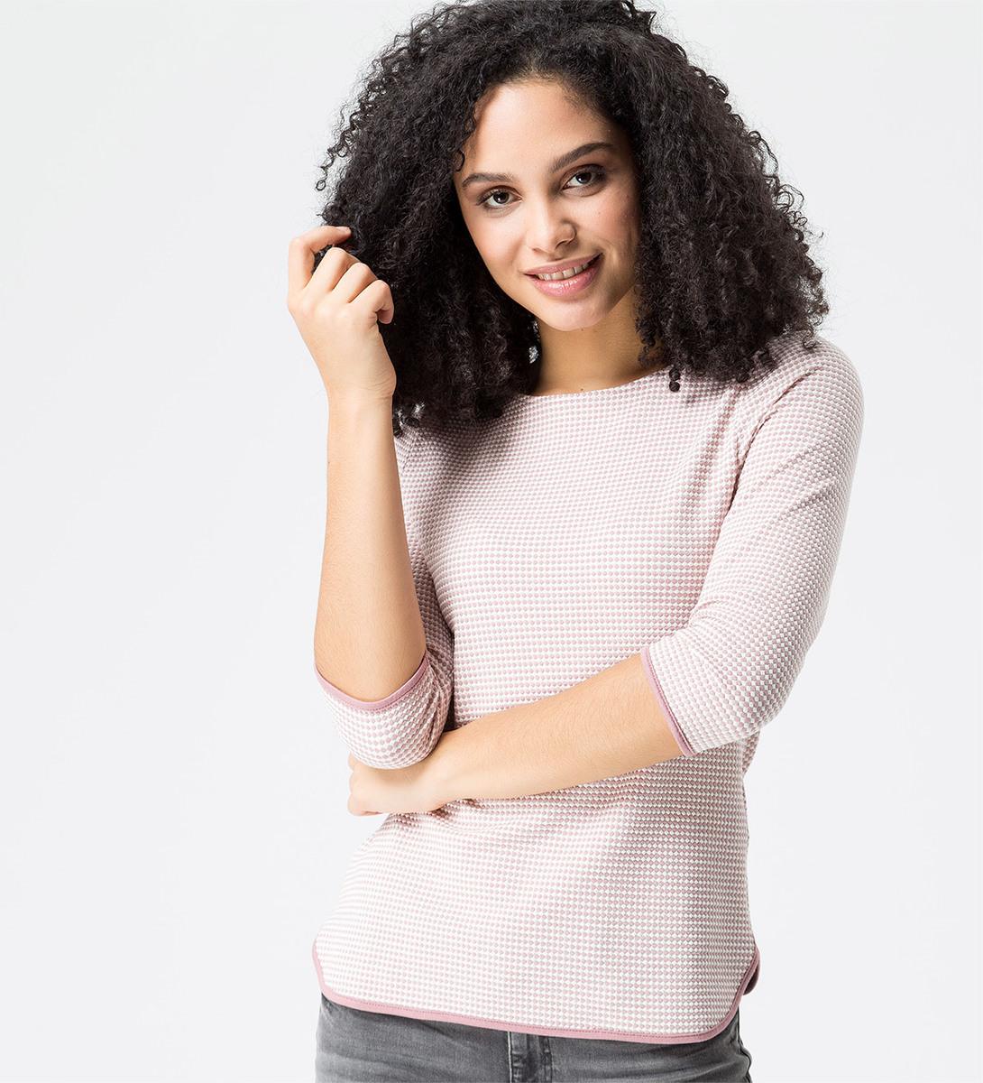 Shirt mit Minimal-Muster in ash rose