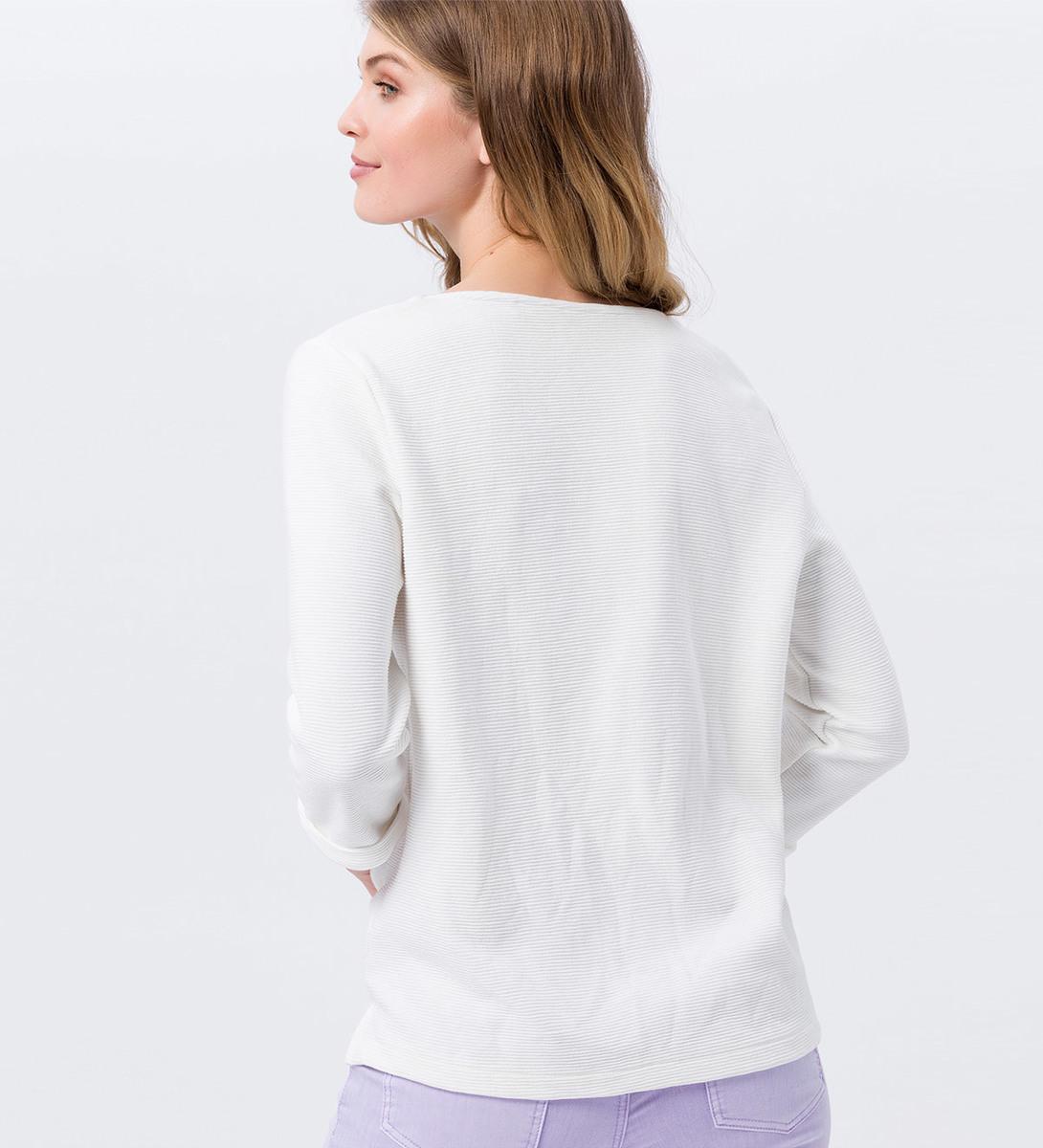 Shirt mit 3/4-Ärmeln in offwhite