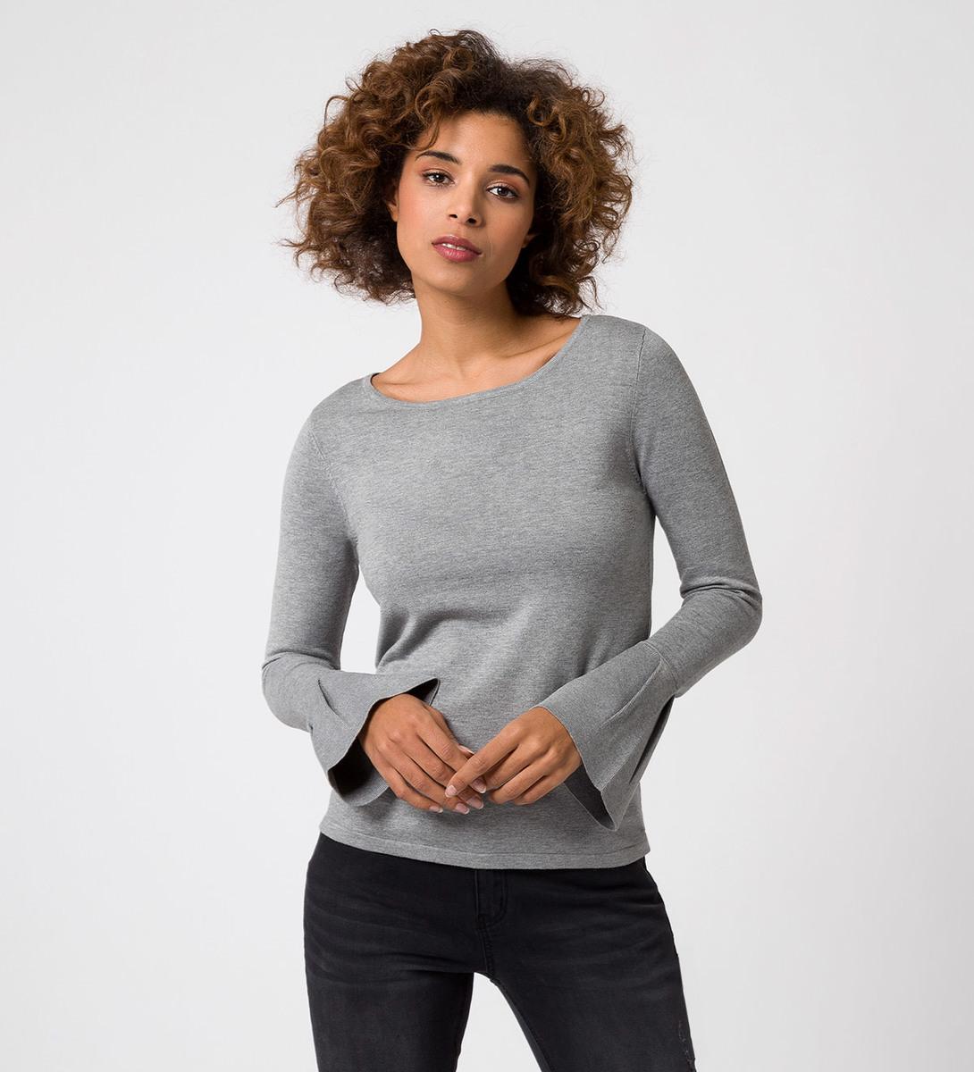 Pullover in Feinstrickqualität in silver grey-m
