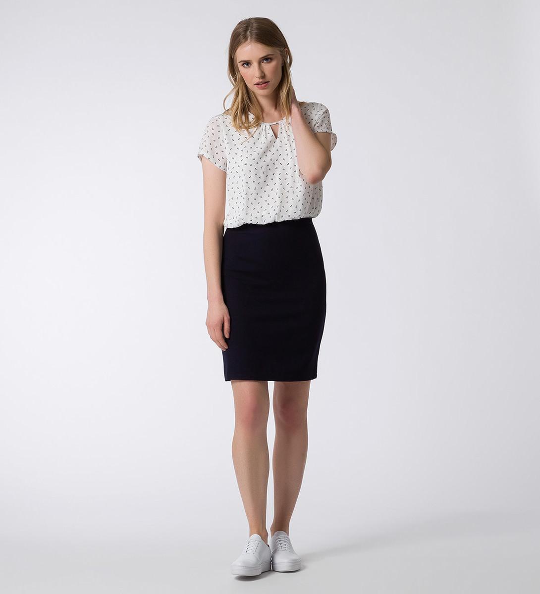 Kleid mit Ankerprint in offwhite