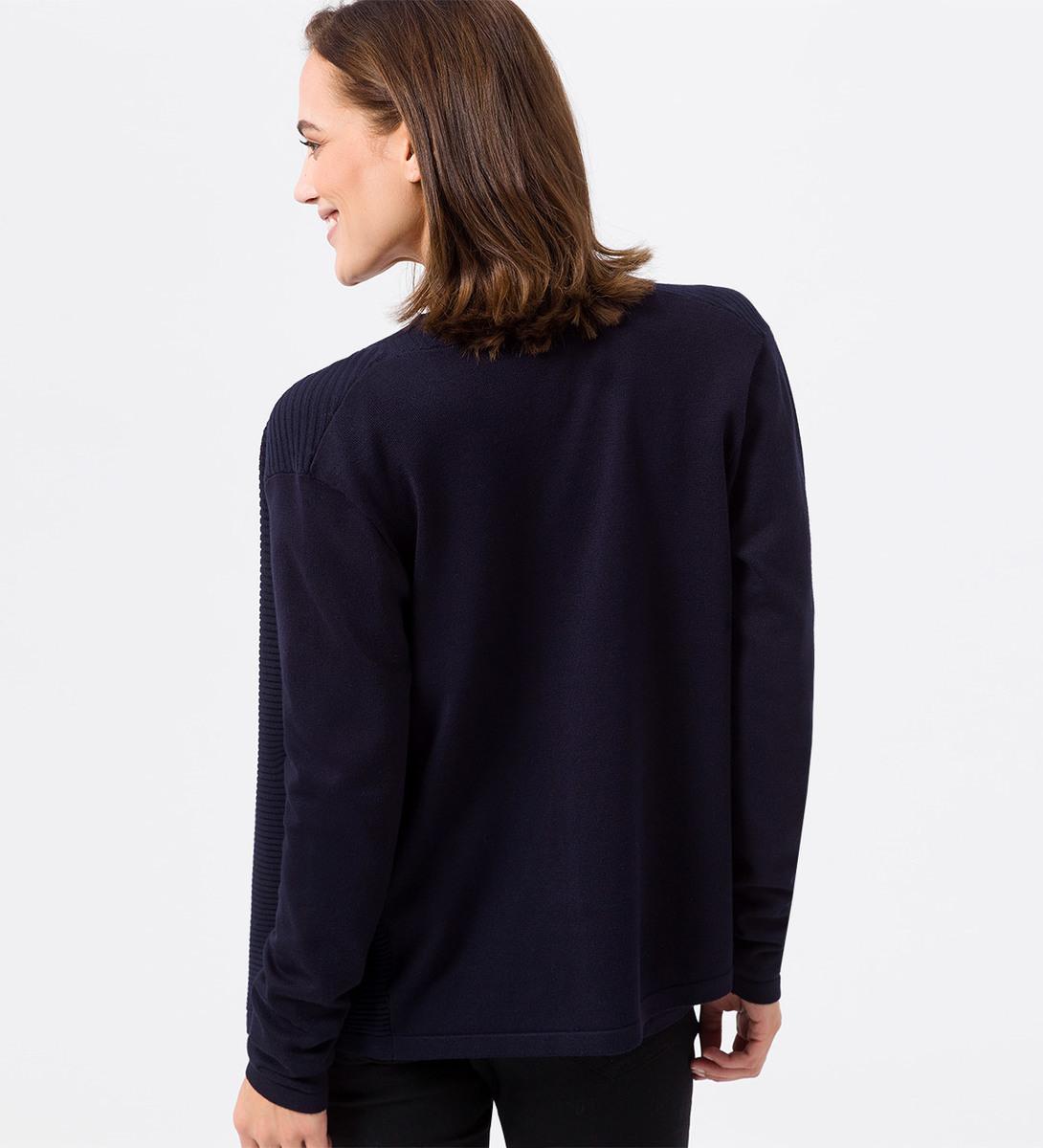 Cardigan im verschlusslosen Design in blue black